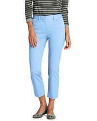 Lands' End Blue Plus Chino Cropped Trousers