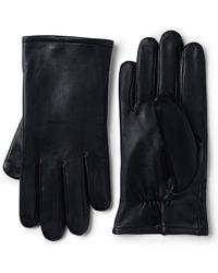 Lands' End Easy Touch Leder-Handschuhe - Schwarz