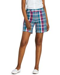 Lands' End - Patterned Mid Rise 7′′ Chino Short - Lyst
