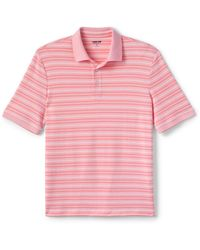 Lands' End Supima Kurzarm-Polo,gemustert, Classic Fit, Herren, Größe: S Normal, Rot, Jersey, by Lands' End, Rote Rose Oxford Gestreift