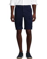 Lands' End Cargo-Shorts mit Stretch, Classic Fit, Herren, Größe: 46 Normal, Blau, Baumwolle, by Lands' End, Strahlend Marine