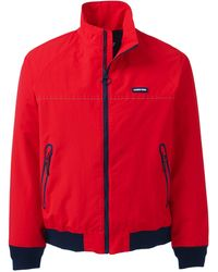 Lands' End Squall Lightweight Jacket - Red