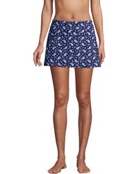 Lands' End Chlorine Resistant Tummy Control Swimmini, Women, Size: 10 Regular, Blue, Spandex, By