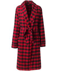 Lands' End Flanell-Morgenmantel - Rot