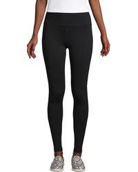 Lands' End Active Seamless Leggings, Women, Size: 8 Regular, Black, Poly-blend, By Lands'end
