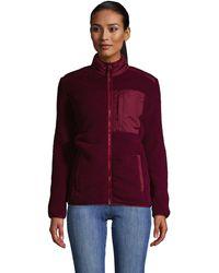 Lands' End Cosy Sherpa Fleece Jacket - Red