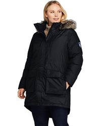 Lands' End Expedition Down Parka, Women, Size: 20-22 Plus, Black, By