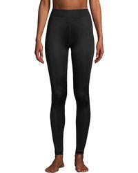 Lands' End Lightweight Silk Interlock Long Johns, Women, Size: 14-16 Regular, Black, By Lands'end