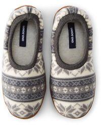 Lands' End Fleece Slippers - Grey
