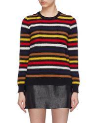 Sonia Rykiel - Zigzag Stripe Cashmere Sweater - Lyst