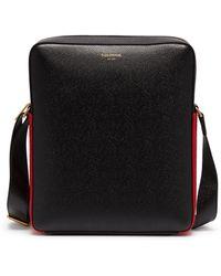 Thom Browne - Stripe Panel Leather Camera Bag - Lyst