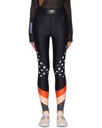 P.E Nation Off Side Star Print Contrast Panel leggings - Black