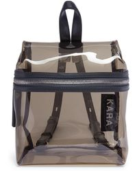 Kara - Pvc Leather Strap Small Backpack - Lyst