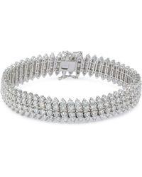 LC COLLECTION Diamond 18k White Gold Link Bracelet - Metallic
