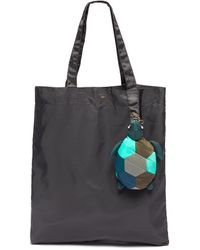 Anya Hindmarch Turtle Charm Packable Nylon Tote - Gray