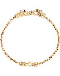 John Hardy 'legends Naga' Diamond Sapphire 18k Yellow Gold Chain Bracelet - Metallic