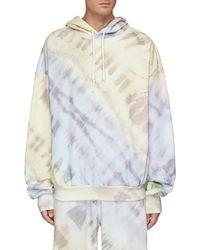 Angel Chen Tie Dye Crew Neck Hoodie - Multicolour