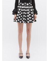 Alice + Olivia - 'fizer' Heart Jacquard Sequin Pleated Tweed Skirt - Lyst