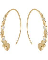 John Hardy - 'dot' Diamond 18k Yellow Gold Hoop Earrings - Lyst