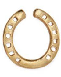 Loquet London 18k Yellow Gold 'horseshoe' Charm – Protection - Metallic