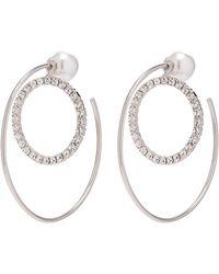 Joomi Lim - 'saturn Stunner' Detachable Swarovski Crystal Ring Large Hoop Earrings - Lyst