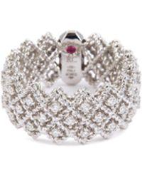Roberto Coin - 'roman Barocco' Diamond 18k White Gold Ring - Lyst