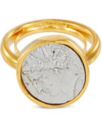 Kenneth Jay Lane - Coin Charm Ring - Lyst