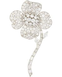 Palais Royal Van Cleef And Arpels Diamond Platinum Brooch - Multicolour