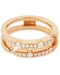 LC COLLECTION - 'versatile' Diamond 18k Rose Gold Ring - Lyst