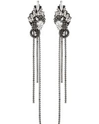 Erickson Beamon 'china Club' Swarovski Crystal Fringe Drop Earrings - Metallic
