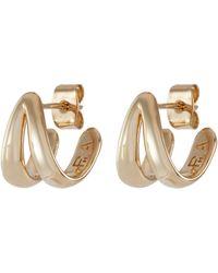Philippe Audibert Willa' Gold Plated Double Earrings - Metallic