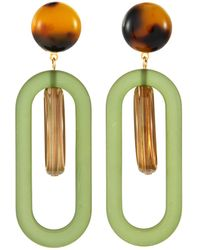 Rachel Comey 'lohr' Oval Acrylic Earrings - Multicolour