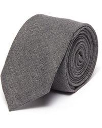 Thom Browne Classic Solid Tie - Grey