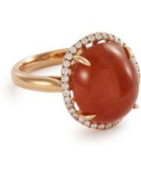 LC COLLECTION Diamond Jade 18k Rose Gold Ring - Metallic