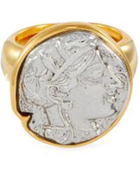Kenneth Jay Lane Coin Charm Ring - Metallic