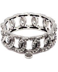 Philippe Audibert 'princess' Swarovski Crystal Chain Effect Elastic Bracelet - Metallic