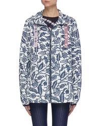 The Upside - 'batik Serena' Botanical Print Anorak Jacket - Lyst