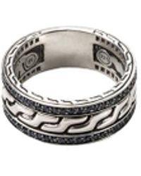 John Hardy - Sapphire Silver Chain Effect Ring - Lyst