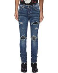 Amiri Mx1' Distressed Jeans - Blue