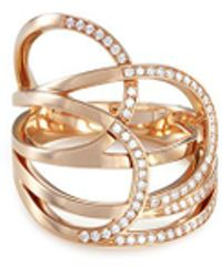 Repossi - 'la Ligne C' Diamond 18k Rose Gold Ring - Lyst