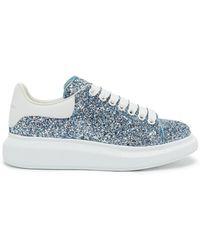 Alexander McQueen - Blue Galaxy Glitter Oversized Sneakers - Lyst