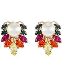 Anton Heunis Swarovski Crystal Pearl Stud Earrings - Multicolour