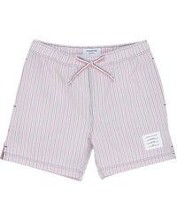 Thom Browne Seersucker Stripe Swimming Shorts - Multicolor