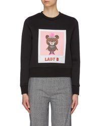 Neil Barrett 'lady B' Slogan Graphic Print Sweatshirt - Black