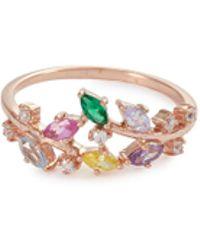Anabela Chan - 'rainbow Ivy' Diamond Gemstone 9k Rose Gold Ring - Lyst