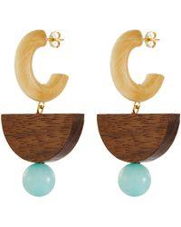 Sophie Monet - 'the Mystic Earrings' Pine And Shedua Wood Earrings - Lyst