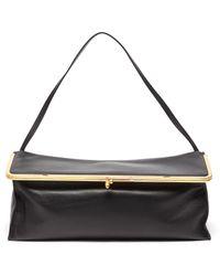 Jil Sander 'goji Prysm' Leather Top Handle Bag - Black