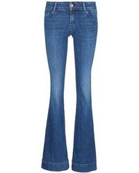 J Brand | 'lovestory' Mid Rise Bell-bottom Jeans | Lyst