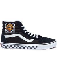 Vans - 'sk8-hi' Tiger Checkerboard Patch Suede Panel Canvas Sneakers - Lyst