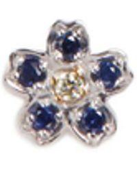 Loquet London - Diamond Sapphire 18k White Gold Forget Me Not Charm - Lyst
